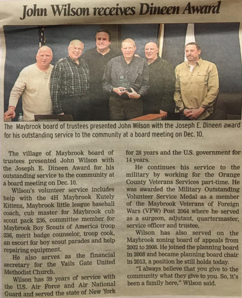 Maybrook Dineen Award